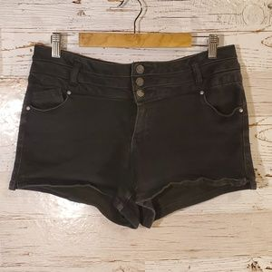 Blue Spice stretch black shorts